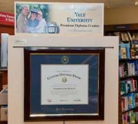 a frame containing a diploma